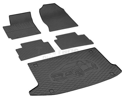 Passende Gummimatten und Kofferraumwanne Set geeignet für Hyundai Kona ab 2017 + Gurtschoner
