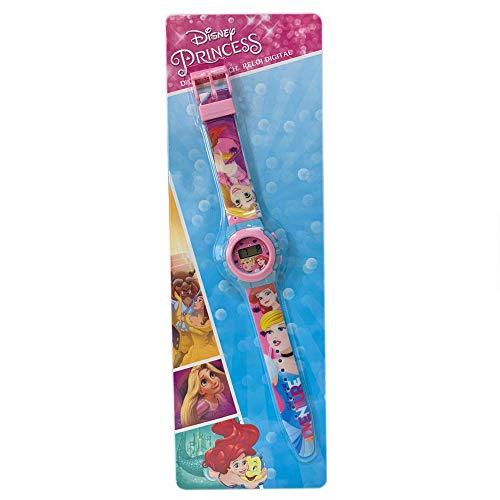 Kids Licensing |Reloj Digital para Niños | Reloj Princesas |Diseño Personajes Disney |Reloj Infantil Resistente | Reloj de Pulsera Ajustable| Bisel Reforzado | Reloj de Aprendizaje | Licencia Oficial