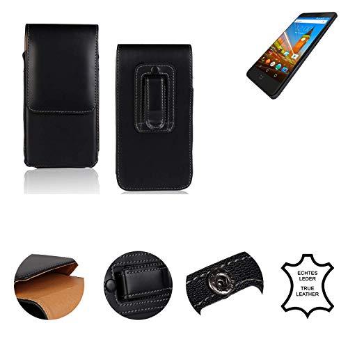 K-S-Trade® Gürtel Tasche Für Wileyfox Swift 2X Handy Hülle Leder Schwarz, 1x