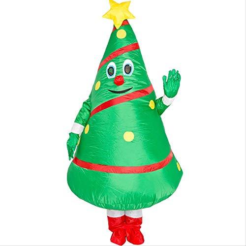 1yess Mueca de la Navidad Historieta del Traje Inflable Modelo Traje de Santa Claus apoyos Divertidos inflables de Navidad rbol de Ropa Ruta rbol de Navidad