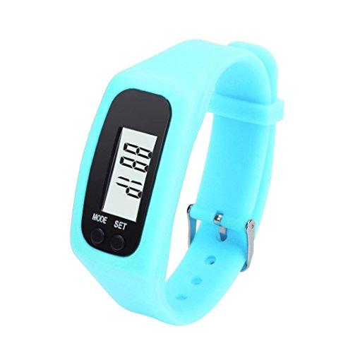 Armband Herren Damen Kolylong Unisex LCD Pedometer Schrittzähler Entfernung Kalorienberechnung Armband Blau