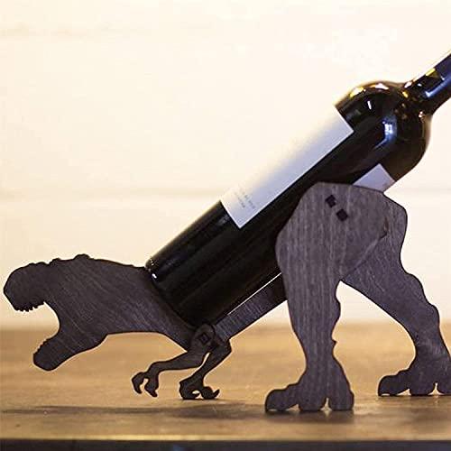 Botellero de madera, soporte de almacenamiento de pie para botellas, accesorios creativos y personalizados, de madera, para decorar botellas, 1 unidad