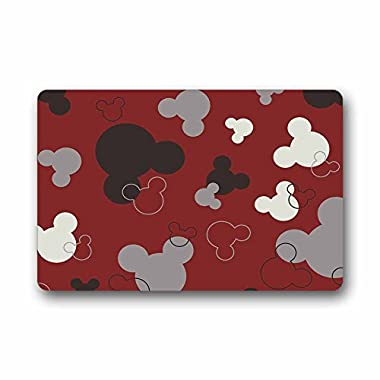 Custom Mickey Mouse Machine Washable Top Fabric Non-slip Rubber Indoor Outdoor Home Office Bathroom Doormat Size 23.6x15.7