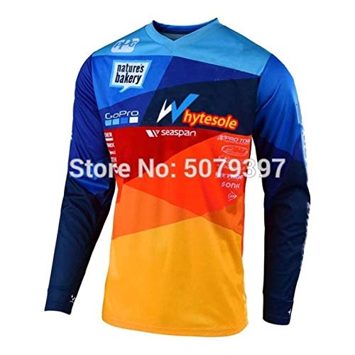 Moto Motocross Jersey Bmx Men Mtb Jersey Downhill Cycling Mountain Bike Maillot Ciclismo Jersey Quick Drying Jersey Ylcxdm (Color : White, Size : XS)