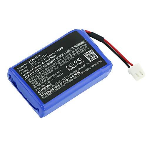 subtel® Batería Premium Compatible con Satlink WS-6906 / WS-6908 / WS-6909 / WS-6912 / WS-6932 / WS-6933 / WS-6936, E-1544, F03409 1000mAh Pila Repuesto bateria