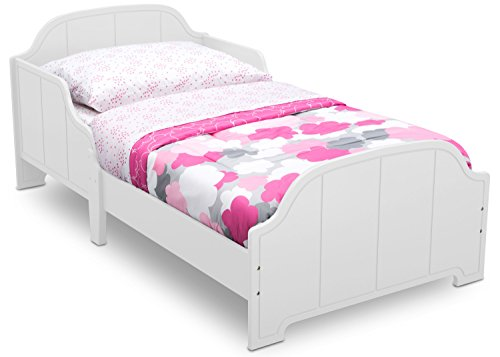 Delta Children MySize Toddler Bed with Bell-Shaped Headboard, Bianca White