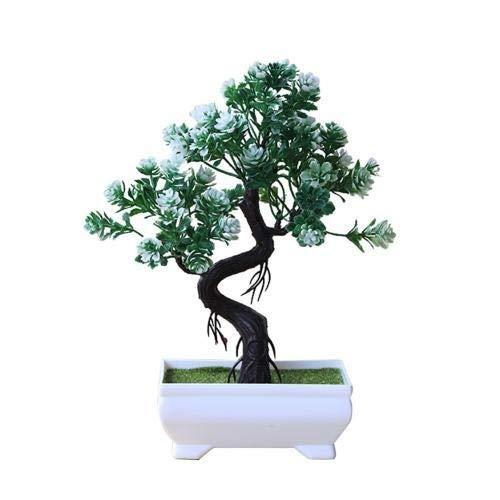 Árbol de planta en maceta de simulación Planta artificial Bonsai Árbol de plástico artificial de plástico decorativo Bonsai Inicio Oficina Decoración Mesa Centros de mesa Regalo Bonsái Artificial