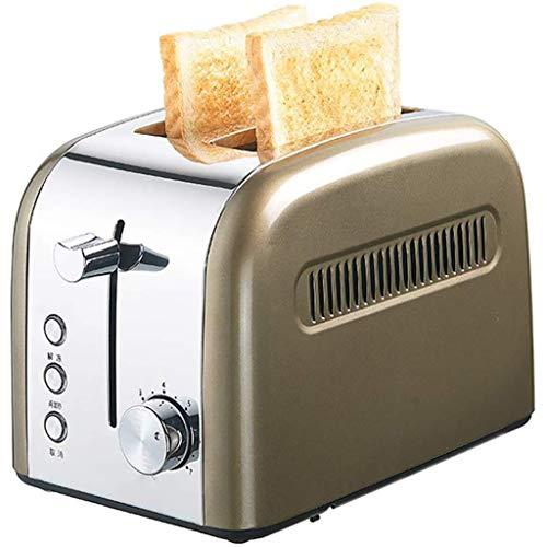 Tostadora 2 Slice Toaster, retro Pequeño Tostadora con la de descongelación / recalentamiento / Función Cancelar, 7 Ajustes de sombra, extra ancho ranura Compact inoxidable de acero for tostadoras de