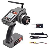 Radiolink RC6GS V2 2.4Ghz 6 Channels RC Transmitter and Receiver R7FG Gyro Volt Telemetry Long Range, Head Tracking Surface Radio Controller FPV for RC Car Boat Crawler Truck Buggy