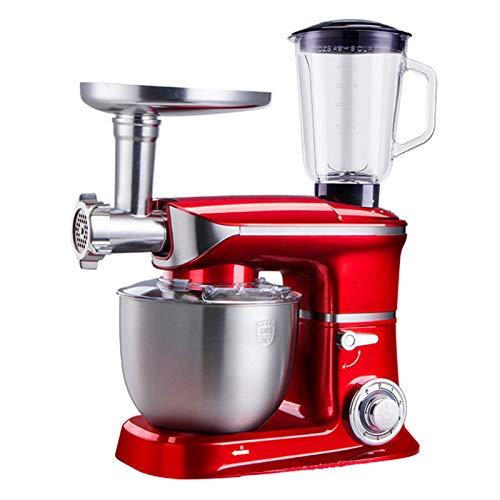 SFPY 5 en 1 Multifunción Batidora Amasadora 1000W Robot de Cocina con 6 Velocidades, para Hacer Fideos, Batir los Huevos, Jugos Carne Molida, para La Mayoría de Cocineros Caseros