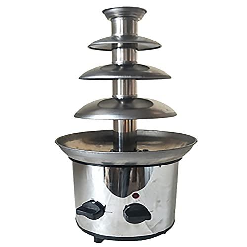 DunShan Máquina de Fuente de Fondue de Chocolate eléctrica de Acero Inoxidable de 4 Capas Máquina de Calentador de inmersión de fusión de Chocolate Máquina de Cascada de Queso para el hogar