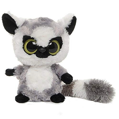 YooHoo & Friends - Peluche Lemur, 13 cm, Color Gris y Blanco