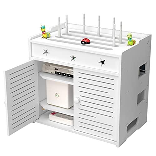 Caja Organizadora Oculta Para Enrutador WiFi Caja De Almacenamiento Multifunción Para Enrutador WiFi Protector Contra Sobretensiones De Regleta De Alimentación ( Color : Blanco , Size : 40×26×37cm )