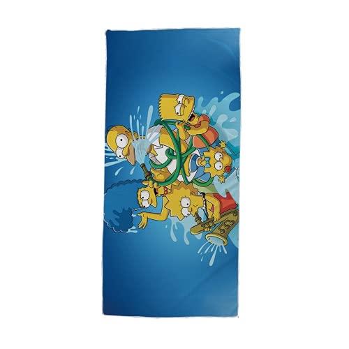 Amacigana Los Simpson Toallas de Playa,Toalla de baño Niños Playa Natación Hogar Suave Extra,Toallas Baño Calidad Secado Rapido Piscina,Manta Playa (Simpson #02,80 x 160 cm)
