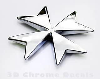 Maltese Cross car chrome emblem auto bike chrome decal 3D sticker CNPL-MALT