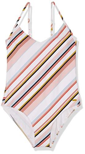 Roxy Women's Print Beach Classics Basic One Piece Swimsuit, Bright White Oriental Stripe S, L