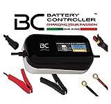 BC Battery Controller BC BRAVO 2000, Caricabatteria e Mantenitore Digitale/LCD, Tester di Batteria e Alternatore per tutte le Batterie Auto e Moto 12V Piombo-Acido, 2 Amp