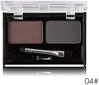 Professional Eye Brow Makeup 2 Color Eye Shadow Eyebrow Powder With Brush Eyebrow Cake Dark Brown Make Up Palette Set Kit 04