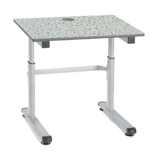 metalliform HA200/a-126-ps-gr-grey Speckle höhenverstellbar Tisch, duraform PU grün Rand, grau speckle