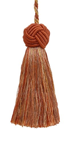 Decorative 89mm Tassel / RUST GOLD / Baroque Collection Style# BTS Color: CINNAMON TOAST - 6122
