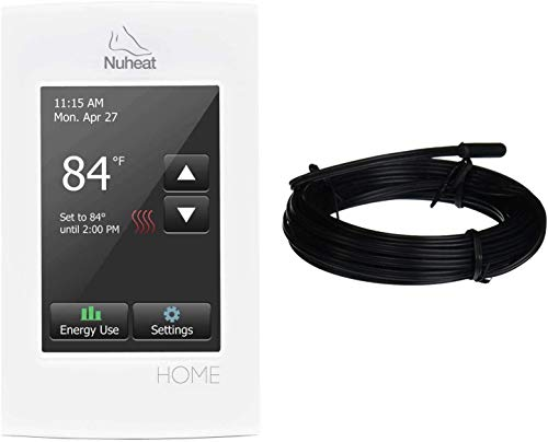 nVent NUHEAT HOME Programmable Dual-Voltage High Resolution Color Touchscreen Floor Heating Thermostat