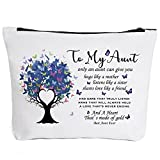 Aunt Gifts from Niece and Nephew, Makeup Bag Gifts for Auntie, Aunt to be, New Aunt, Niece Gifts from Auntie, Aunt Pregnancy-Only An Aunt Can Give You Hugs