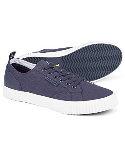 Lyle and Scott Herren Mitchell Sneaker, Leder, Blau - dunkles marineblau - Größe: 39 1/3 EU