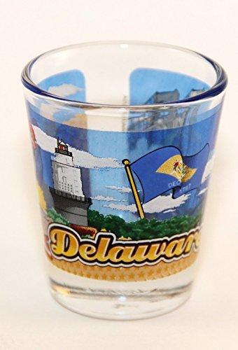 Delaware State Wraparound Shot Glass