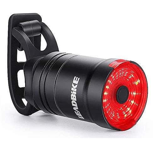 Hongtianyuan Luce Posteriore Bici,USB Ricaricabile Intelligente Luce Posteriore per Bici,Auto On/off,IPX6 Impermeabile Luci LED per Bicicletta,6 modalità di Luce.
