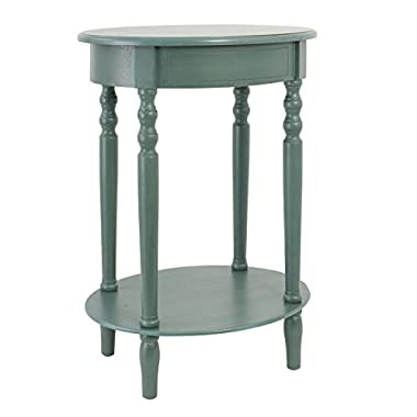 Décor Therapy FR1545 Simplify Oval Accent Table, Antique Teal