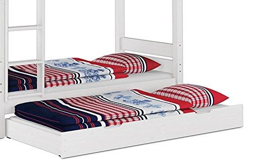Erst-Holz® Bettkasten als Zusatzbett für unsere Etagenbetten 80x180 - inkl. Matratze - 90.10-S17 W M