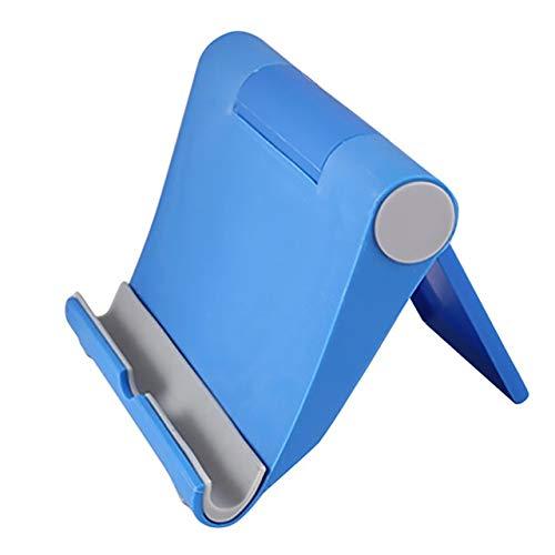GHDHTY Soporte Movil para Coche, iPhone for Samsung Tablet 19Mar11 Escritorio Plano Vertical Soporte Plegable Universal del Soporte de Escritorio Plegable Soporte del teléfono (Color : Blue)