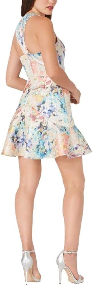 Aidan by Aidan Mattox Women's Printed Jacquard Dress Pastel Multi Size 8