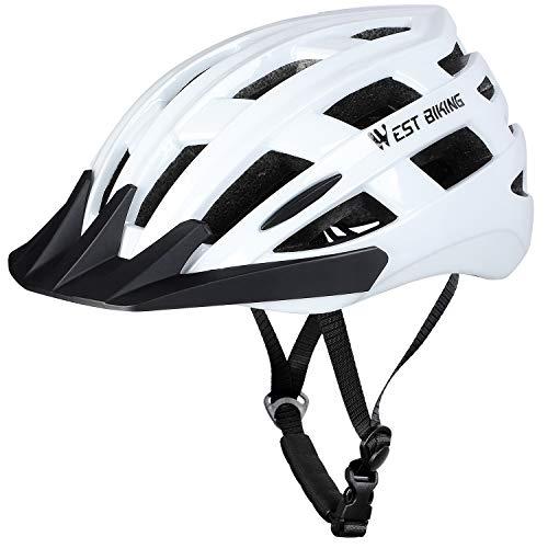 WESTGIRL Fahrradhelm Erwachsene, Mountainbike Helm, Leichter Schutzhelm für MTB Rennrad BMX, Adult Radhelm mit Abnehmbarem Visier und Liner