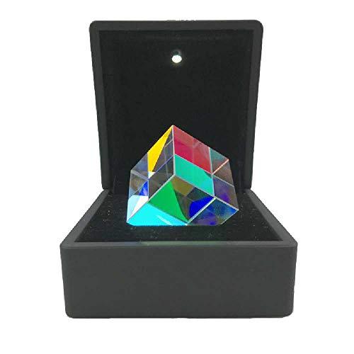 OPIN WüRfelprisma, Optisches K9-Glas, Refraktor-Kristallprisma, Geschenkbox-Prisma-Fotografie-Prisma Lichtspektrum-Physik-Prisma-Dekoration 20 * 20 * 20mm