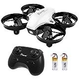 Potensic A20 Mini Drone avec Les Fonction sans tête, Altitude Tenir, Deux Boutons pour contrôler décoller et atterrisser, Drone Cadeau-Blanc (Blanc)