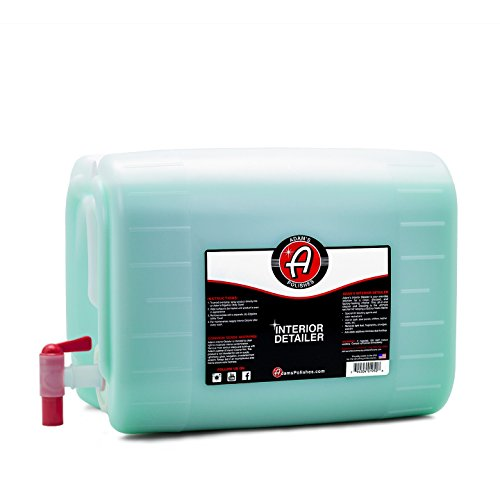 Adam's Interior Detailer (5 Gallon, Original) - Antimicrobial Car Interior Cleaner & Dressing for Car Detailing | Reduces Bacteria Microbes | UV Protection Leather Cleaner & Conditioner
