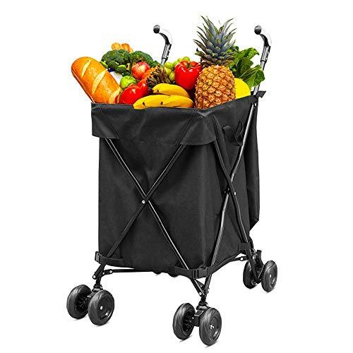 Folding Shopping Auto - Carrito multiusos para compras (soporta hasta 120 libras)