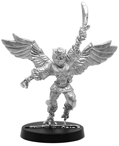 Stonehaven Female Owlfolk Fighter Miniature Figure (for 28mm Scale Table Top War Games) - Made in US