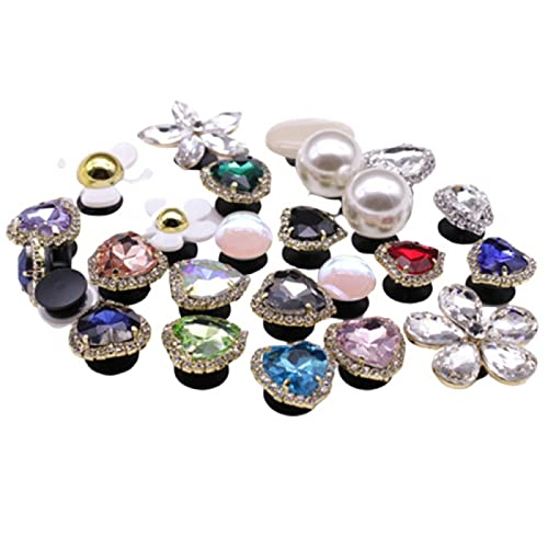 QAZW Paquete de 30 Piezas de Diamantes de Imitación, Dijes Deslizantes de 8 Mm, Corazón, Flores, Patas, Cruz, Corona de Mariposa, Estrella, Dijes para Pulseras/Pulseras Deslizantes de 8 Mm,30PCS