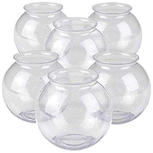 Kicko Plastic Ivy Bowls - 6 Pack of 16 Oz Tub - Perfect for Home Decor Centerpiece Carnival Game Accessory Ornament Holder Party Supplies Sweet Treats