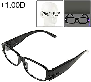 WTYD Clothing and Outdoor Accessories UV Protection White Resin Lens Reading Glasses with Currency Detecting Function, 1.00D Outdoor Equipment (Color : Color1)