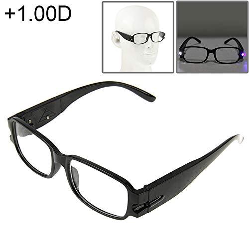 Unisex LIJM UV-bescherming Witte Hars Lens Leesbril Met Het Opsporen Van Valuta-functie, 1.00 D Lezing (Color : Color1)