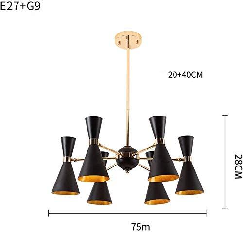 Office kroonluchter LED kroonluchter modern klassiek plafondlamp 360 ° hoek verstelbaar lampenkap metalen Creative design hanglamp woonkamer verlichting Onderzoek kamer kroonluchter