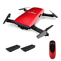 PERFECT PHOTOGRAPHY PRODUCER:720P camera with Wifi real-time transmission FPV system, allows you to get great selfies effortlessly and record remarkable moments, the image transmission range is about 30m. INTUITIVE G-SENSOR CONTROL:2.4G grip controll...