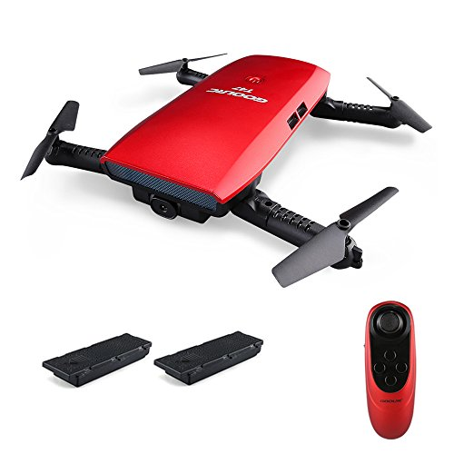 GoolRC Drone with Cameras 720P HD Camera Quadcopter 6-Axis Gyro WiFi FPV Foldable G-Sensor T47 RC Selfie Drone RTF