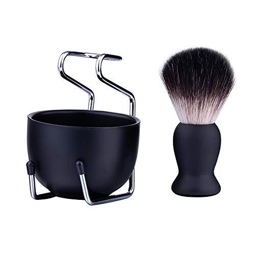 VVU Nuevo y Duradero diseño de Belleza para Hombres, Cuenco de Afeitar, Taza, Cepillo, jabonera, Soporte, maquinilla de Afeitar portátil, Juego de Kits de afeitadora Limpia