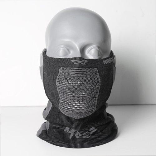 NAROO MASK(ナルーマスク) X5 スポーツマスク フェイスマスク 防寒 スギ・ヒノキ花粉症対策 UVカット (ブラック)