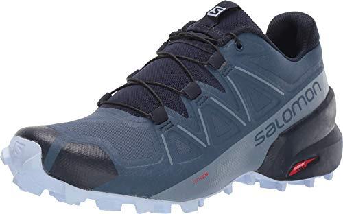 Salomon Damen Speedcross 5 Wide W Trail Running, Sargasso Blazer Marineblau, 45 1/3 EU