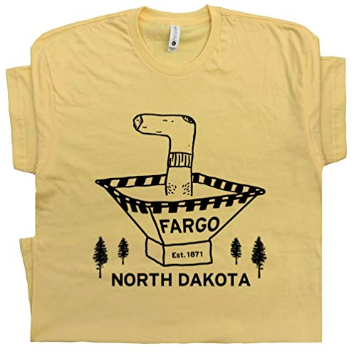 XL - Fargo T Shirt Wood Chipper Cool 90s Movie Poster Woodchipper The Big Dude Lebowski Abides North Dakota Yellow